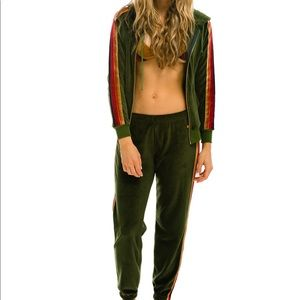 Aviator nation velour track suit